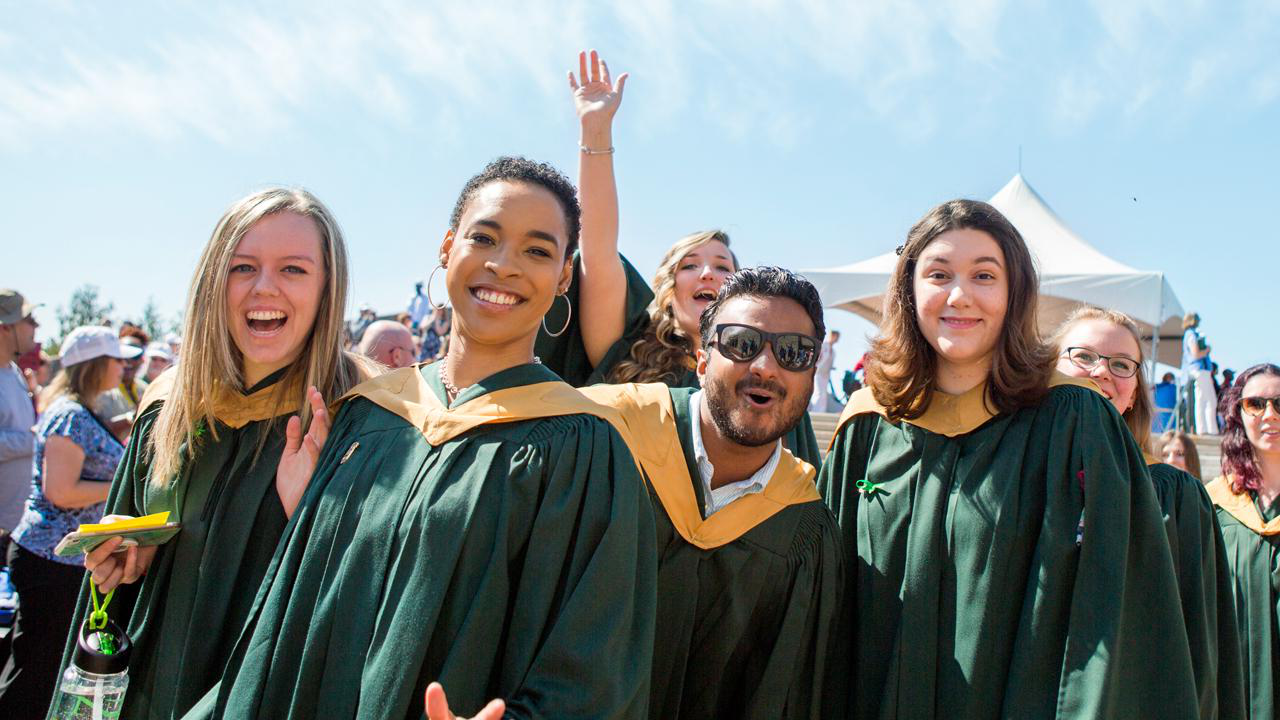 Trent University students excited at convocation
