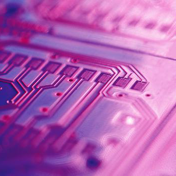 Close-up view of a circuit board